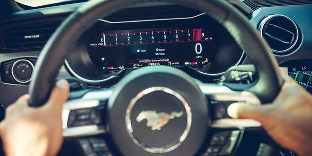 2018 Mustang Track Mode View in 12-inch Digital Cluster