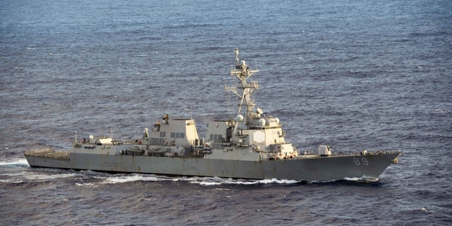The USS Mustin.