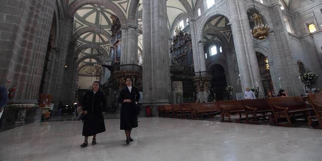 File photo showing the Metropolitan Cathedral, in Mexico City, Mexico on Feb. 6, 2016.