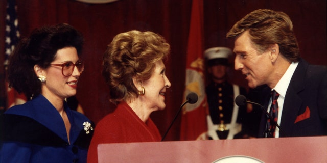 Nancy G. Brinker, founder, Susan G. Komen for the Cure, First Lady Nancy Reagan, TV personality Gary Collins