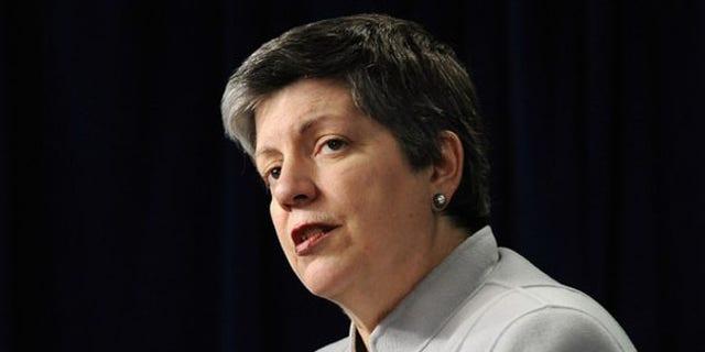 Secretary of Homeland Security Janet Napolitano speaks to reporters Dec. 7 in Washington. (Reuters Photo)