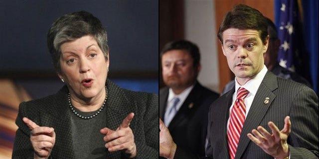 Homeland Secretary Janet Napolitano and Immigrations and Customs Enforcement Director John Morton. (AP)