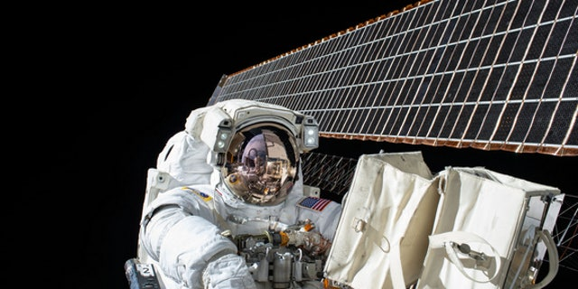 File photo of Scott Kelly during a spacewalk