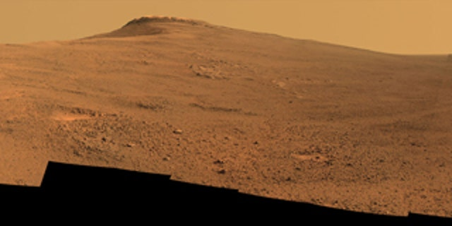 Opportunity's panoramic camera (Pancam) took the component images for this view from a position outside Endeavor Crater during the span of June 7 to June 19, 2017. Toward the right side of this scene is a broad notch in the crest of the western rim of crater.