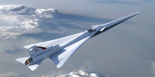 An illustration of NASA's planned Low Boom Flight Demonstration aircraft.