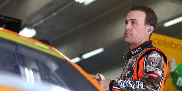 CHARLOTTE, NC - OCTOBER 06: Kevin Harvick, driver of the #4 Busch Hunting Chevrolet, prepares during practice for the NASCAR Sprint Cup Series Bank of America 500 at Charlotte Motor Speedway on October 6, 2016 in Charlotte, North Carolina. (Photo by Sarah Crabill/Getty Images)