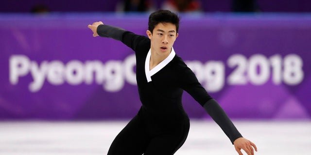 Figure skater Nathan Chen at the 2018 Winter Olympics.