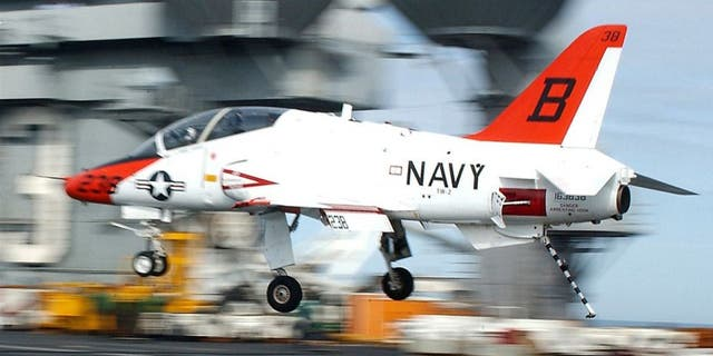 Two pilots were killed in a T-45 training jet crash.