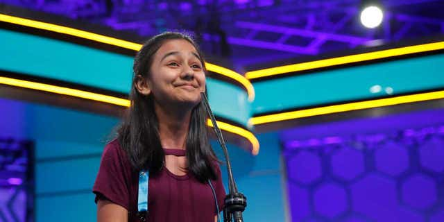 Naysa Modi of Frisco, Texas, finished in second place in this year's Scripps National Spelling Bee.