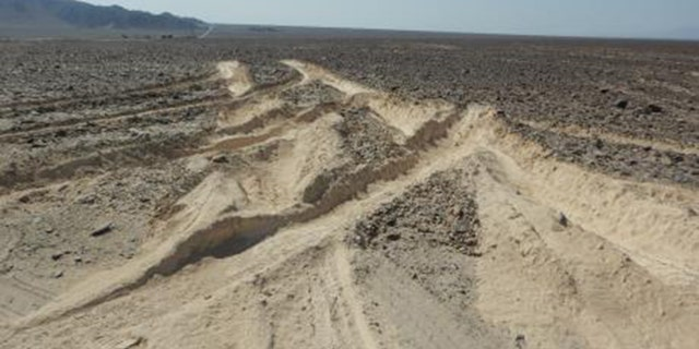 Peru's Ministry of Culture said the ancient Nazca Lines were damaged after a truck driver plowed into the archaeological site.
