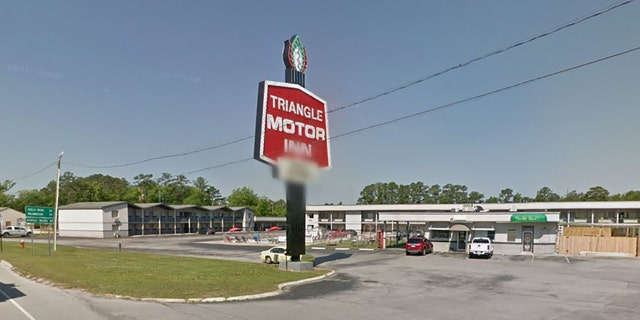 Outside the Travel Motor Inn in Jacksonville, N.C.