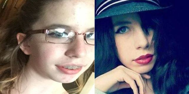 Two undated photos of Amelia Hill, 15, who was reported missing on Saturday.