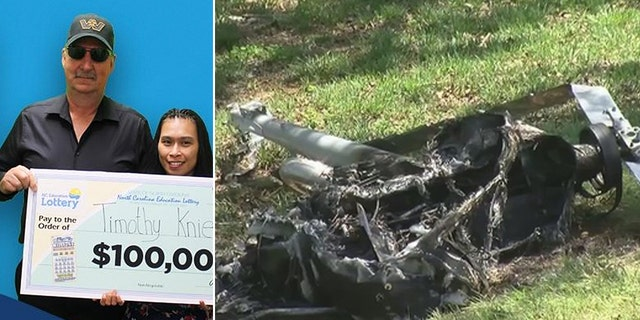 Lottery winner survives helicopter crash in North Carolina