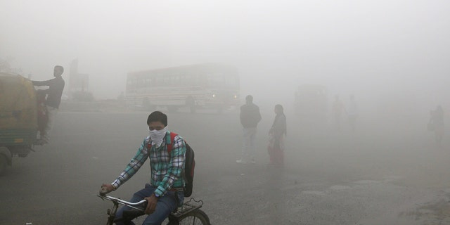 A photo of New Delhi Streets taken Nov. 10, 2017.