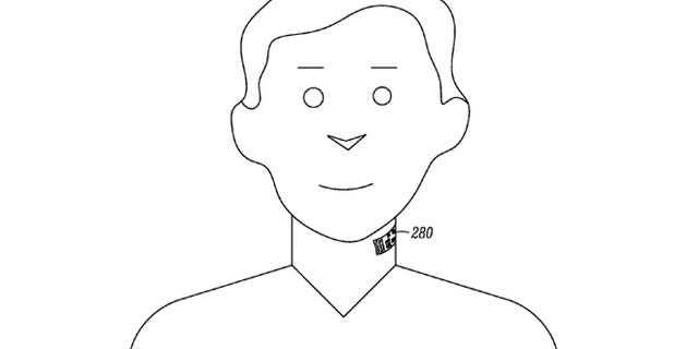 Google-owned Motorola has received a patent for a smartphone-connected system that comprises an electronic skin tattoo capable of being applied to a throat region of a body.