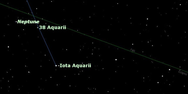 Use this chart to locate Neptune: start from Capricornus and navigate into neighboring Aquarius on Aug. 24. At the time, Neptune will be in opposition.