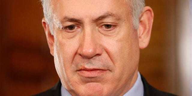 Israeli Prime Minister Benjamin Netanyahu speaks to the media after a meeting with Canadian Prime Minister Stephen Harper in Ottawa May 31. (AP Photo)