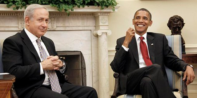 Israeli Prime Minister Benjamin Netanyahu meets with President Obama in the Oval Office July 6. (AP Photo)