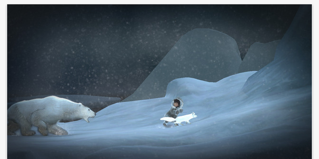 "(Screenshot of ""Never Alone: KI Edition"" in the App Store)"