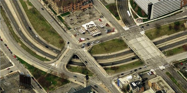 Interstate 375 cuts right through the heart of Detroit and has long cut off surrounding neighborhoods from the Downtown area.