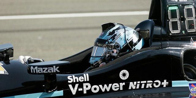 Josef Newgarden in his Team Penske IndyCar