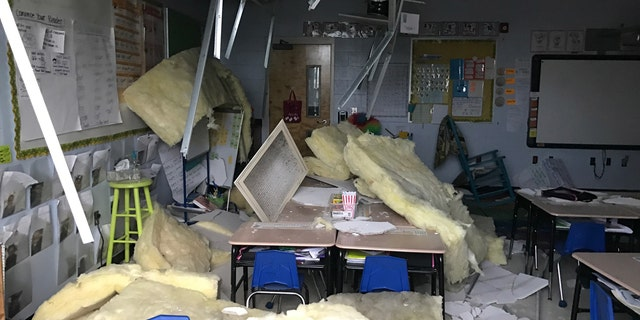 Damage at the Schaumburg Elementary School in New Orleans.