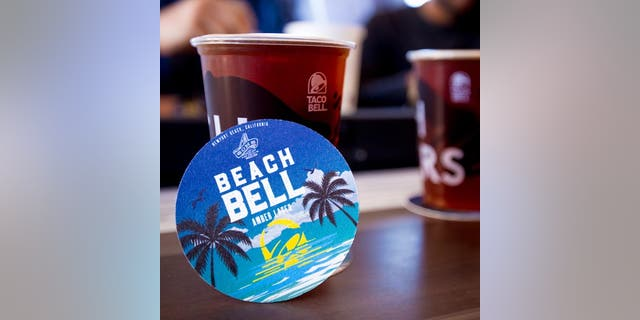 The Beach Bell lager is only available at the Newport Beach Taco Bell Cantina.