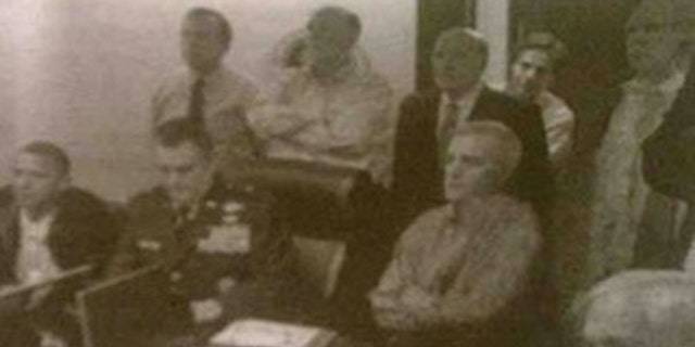 Shown here is the edited White House photo that appeared in Der Zeitung.