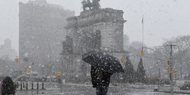 The East Coast may also be targeted with a snowstorm at the end of March, according to the Farmers' Almanac.