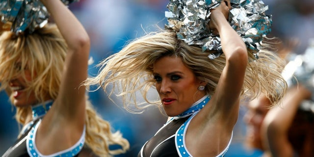 The report stated Carolina Panthers cheerleaders could change out of their uniforms once they were outside the stadium.
