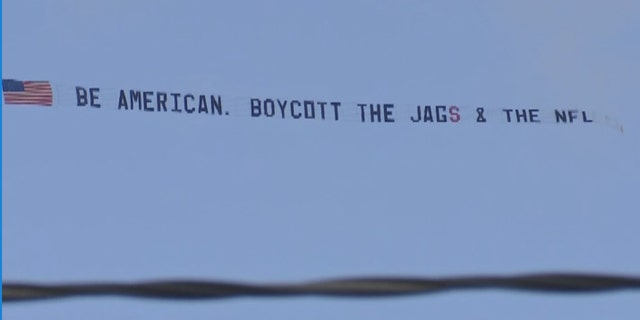 Terry Smiley rented a plane to fly over an NFL game in Jacksonville because he's fed up with national anthem protests.