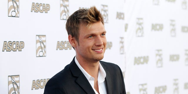 April 17, 2013. Nick Carter of the Backstreet Boys poses at 30th annual ASCAP Pop Music Awards in Hollywood, California.