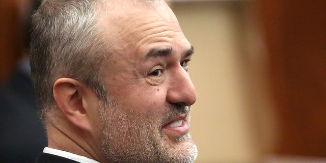 File Photo: Nick Denton, founder of Gawker, talks with his legal team before Terry Bollea, also known as Hulk Hogan, testifies in court, in St Petersburg, Florida, United States, March 8, 2016.  REUTERS/John Pendygraft/Pool/File Photo  - RTSKL6R