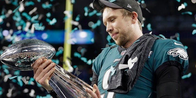 Nick Foles confirmed he did not get a chance to speak with Tom Brady after the Super Bowl.