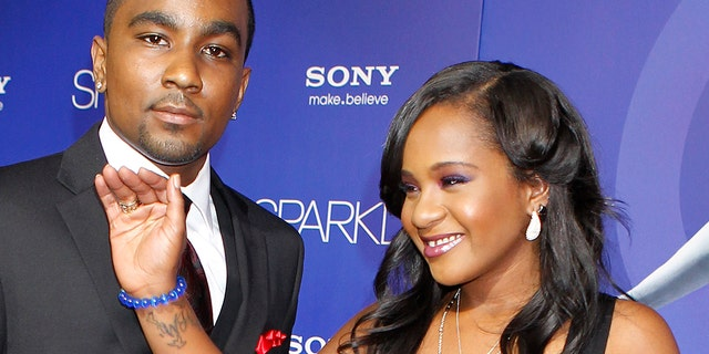 Bobbi Kristina Brown (R) with boyfriend Nick Gordon in 2012.