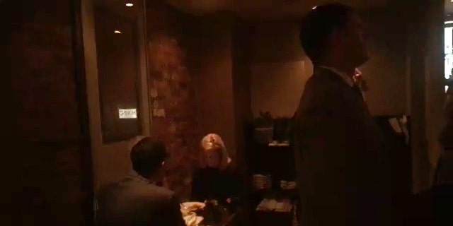 Department of Homeland Security (DHS) Secretary Kirstjen Nielsen seen dining Tuesday evening while the security guards are keeping the protesters away.