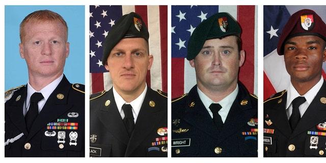 Americans killed in Niger on October 4, 2017: Staff Sgt. Bryan Black, Staff Sgt. Jeremiah Johnson, Staff Sgt. Dustin Wright, Sgt. La David Johnson