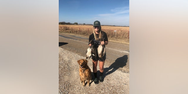 Tate often posts pictures of herself and her hunting dogs posing with carcasses of deer, hogs and waterfowl.
