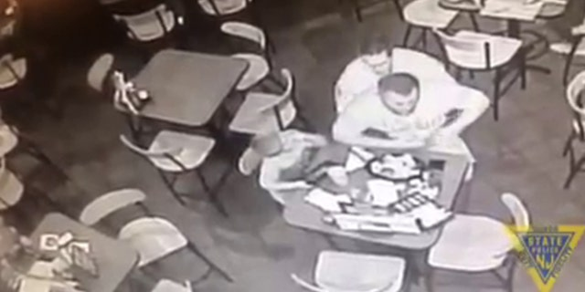 A New Jersey state trooper was in right place at right time to perform Heimlich maneuver on man at restaurant.