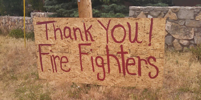 Residents are grateful to firefighters, but angry at the federal government.