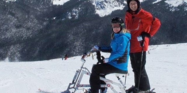 Doctors told Molly Raymond she would never ski again after suffering a traumatic brain injury from a car accident in Virginia. She skied again with her husband Mike Raymond in 2011 at the National Sports Center for the Disabled.