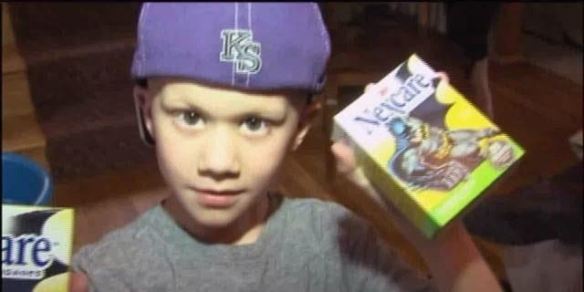 This undated photo shows 6-year-old Noah Wilson, a Kansas City Royals fan battling Ewing's Sarcoma.