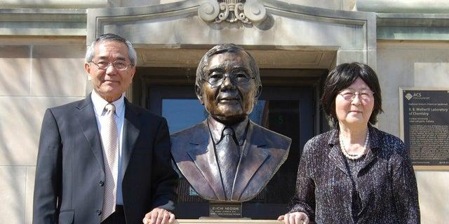 Nobel Prize-winning professor Ei-ichi Negishi, left, was found wandering near the body of his wife, Sumire Negishi.