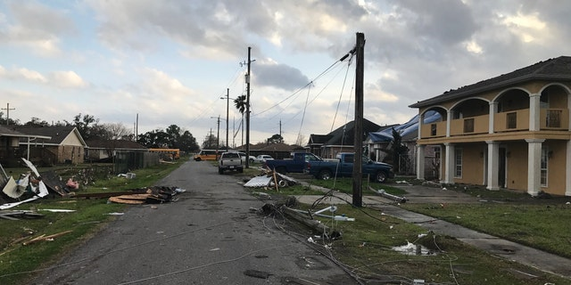 The damage after a tornado tore through New Orleans East.