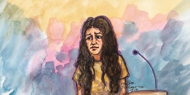 Noor Salman in court Tuesday.