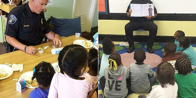 Norman works with kids to teach them that police are there to protect and serve them.