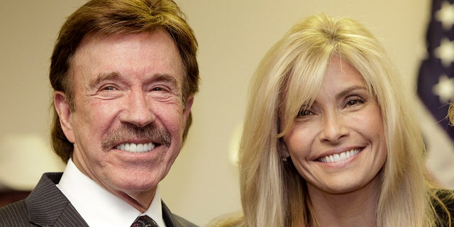 Chuck and Gena Norris in a 2010 file photo. Gadolinium is a metal found in so-called contrast agents used in many MRIs.