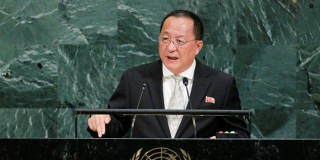 North Korean Foreign Minister Ri Yong-ho.