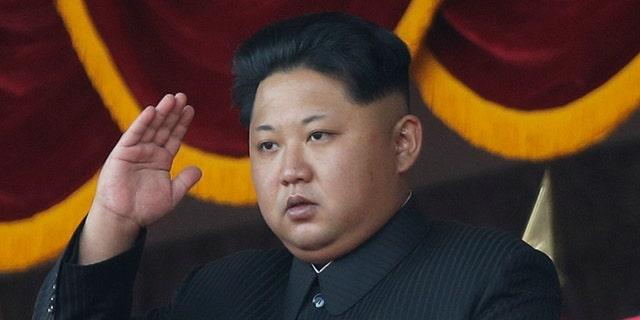 Oct. 10, 2015 FILE photo of  North Korean leader Kim Jong Un saluting a parade in Pyongyang, North Korea. (AP)