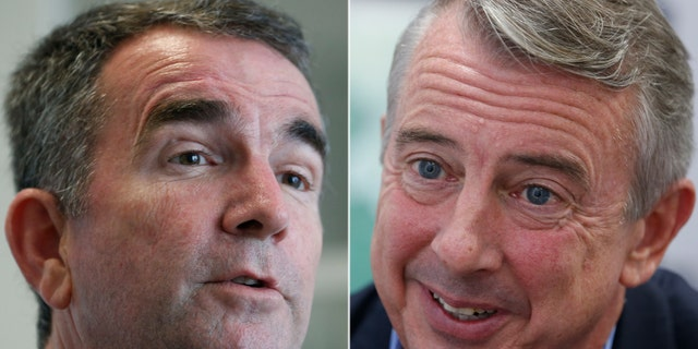 Ed Gillespie, right, said that Ralph Northam, left, is embracing the controversial ad released by LVF.